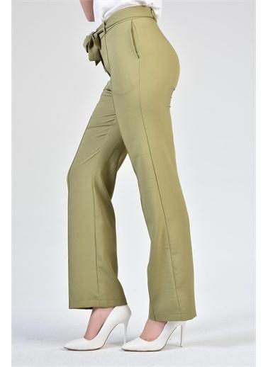 Rodi Jeans Kadın Çımalı Bol Paça Kumaş Pantolon DS21YB014082 Haki